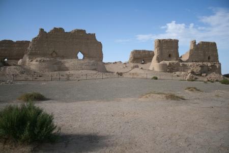 Yumen Guan storehouse, Gobi desert, Dunhuang China