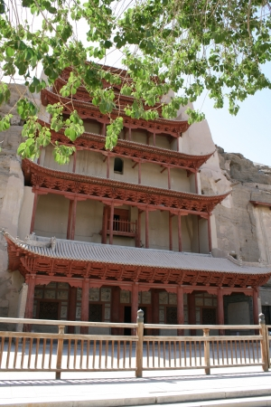 Mogao Grottoes, ancient Buddhist cave, Dunhuang China