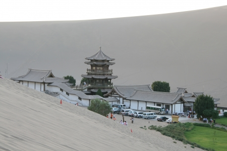 Architecture at Mingsha San oasis Dunhuang, China photo