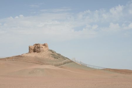 the ancient pass: Yang Guan Pass, Gobi dessert, ancient silk road