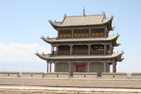 Chinese building at Jia Yu Guan fort, ancient silk road