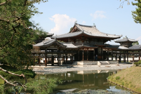unesco world cultural heritage: Byodoin temple in Uji, near Kyoto in Japan