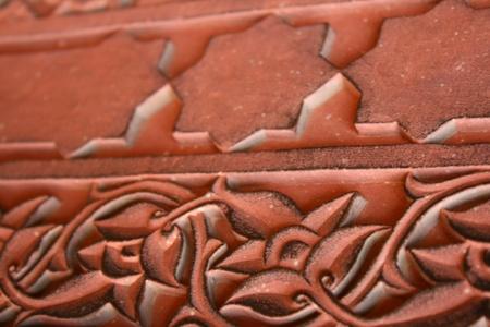 Stone carving at Fathepur Sikri, Agra, India photo