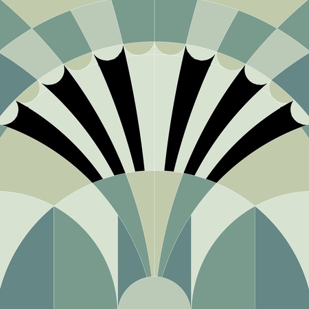 art flower: art deco graphic background