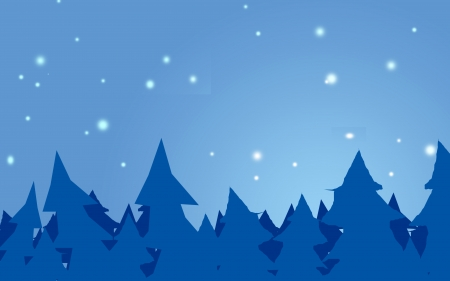 night sky and pinetree forest photo