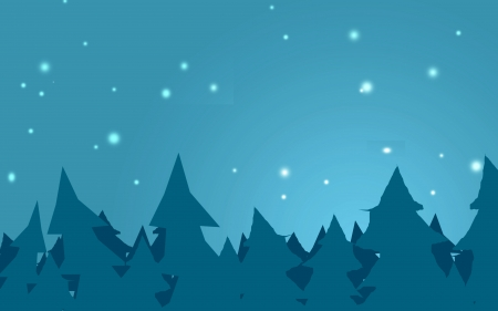 pinetree: night sky and pinetree forest