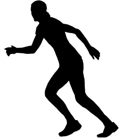 Isolated female handball player Vector
