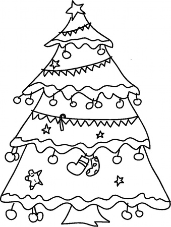 Christmas tree hand sketch Stock Vector - 15706209