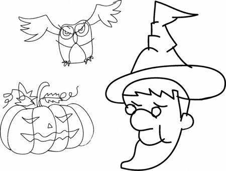 halloween hand sketch Vector