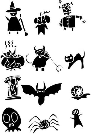 hand draw halloween cartoon vector Vector