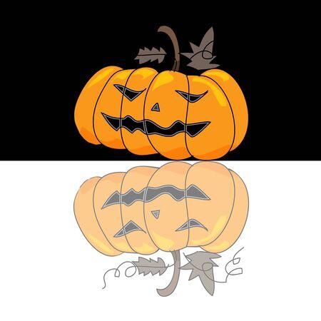 season s greeting: cartoon halloween hand draw illustration