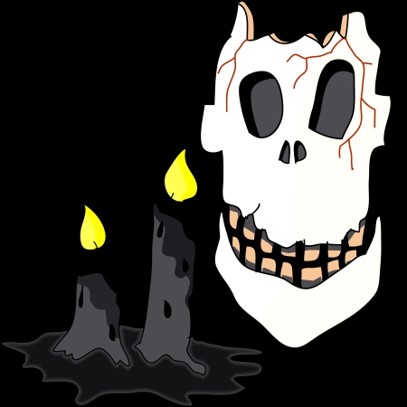 spider' s web: cartoon halloween hand draw illustration
