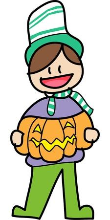 charactor: halloween cartoon charactor hand draw vector