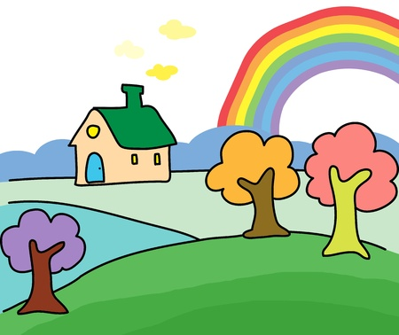 dream home hand drawn illustration Stock Vector - 15861006