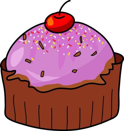 cup cake hand drawn illustration