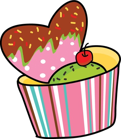 dessert heart sweet hand drawn valentine gift Stock Vector - 15861025