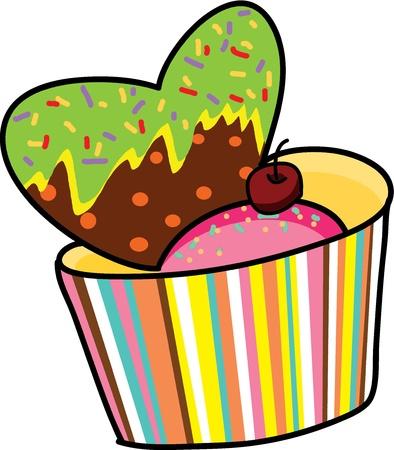 dessert heart sweet hand drawn valentine gift Stock Vector - 15861038
