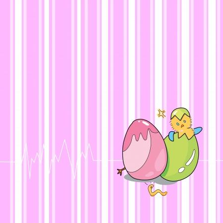 birthday egg cartoon hand drawn illustration Stock Vector - 15861043