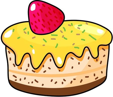 Cup cake hand getrokken illustratie Stockfoto - 15861040