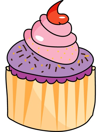 cup cake hand drawn illustration Stock Vector - 15861050