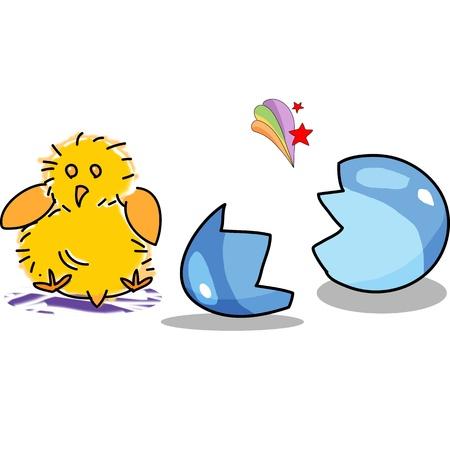 birthday egg cartoon hand drawn illustration Stock Vector - 15861047