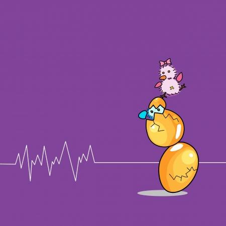 birthday egg cartoon hand drawn illustration