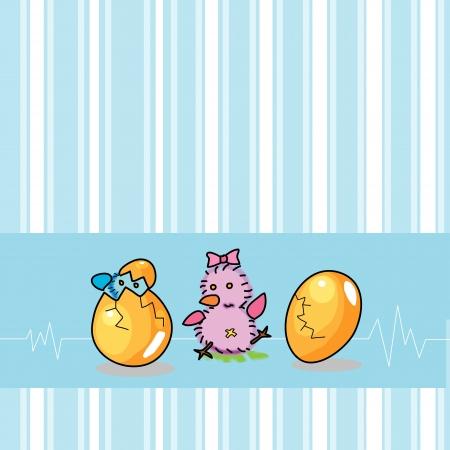 birthday egg cartoon hand drawn illustration Stock Vector - 15910903