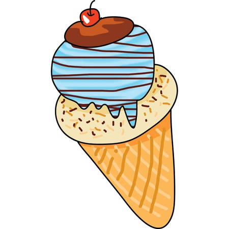 ice cream hand drawn vector illustration Vector
