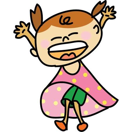 kid cartoon hand drawn illustration