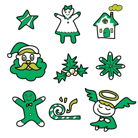 cartoon christmas and new year hand drawn illustrator Stock Vector - 15964910