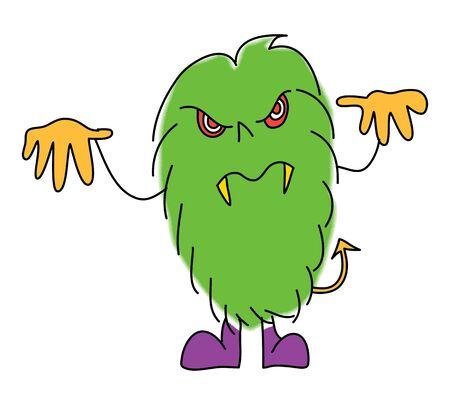 spider' s web: halloween monster cartoon charactor hand drawn illustration