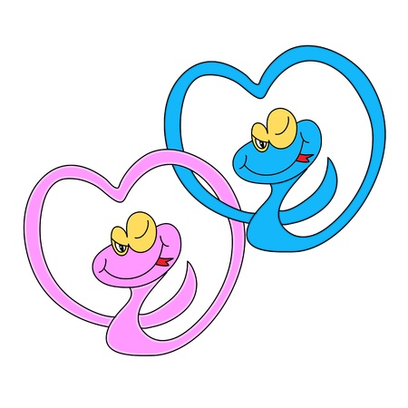 prince of peace: cartoon snake hand drawn symbol of new year 2013 illustration