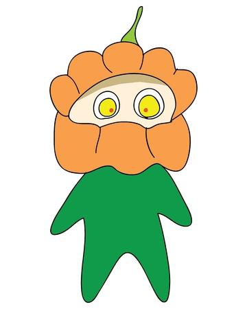 charactor: halloween monster cartoon charactor hand drawn illustration