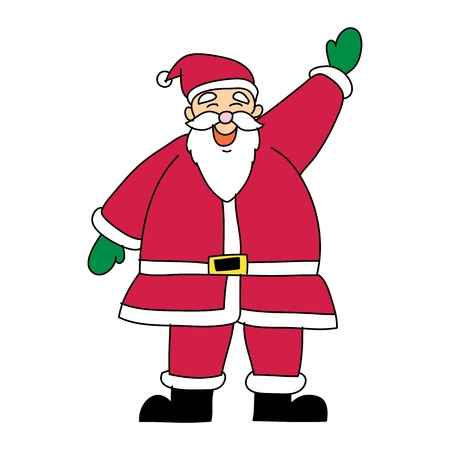 Santa claus christmas hand drawn illustration Stock Vector - 15965002