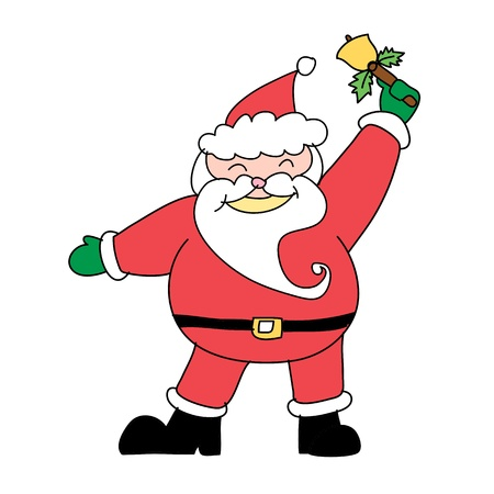Santa claus hand drawn illustration Vector