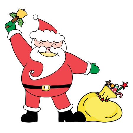 Santa claus christmas hand drawn illustration Stock Vector - 15965058