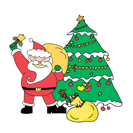 Santa claus christmas hand drawn illustration