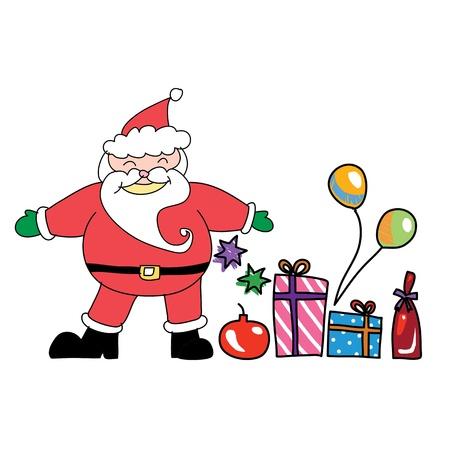 Santa claus christmas hand drawn illustration Stock Vector - 15965060