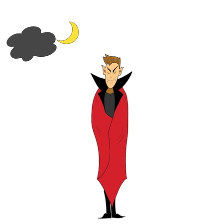 halloween cartoon character hand drawn illustration