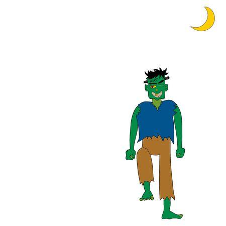 halloween cartoon character hand drawn illustration Vector