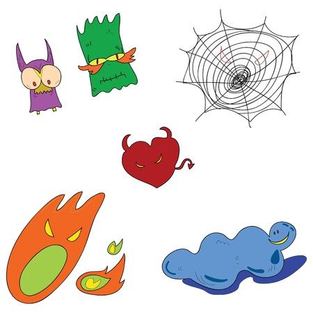 halloween cartoon character hand drawn illustration Stock Vector - 15965158