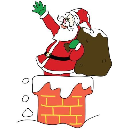 Santa claus christmas hand drawn illustration Stock Vector - 16055444