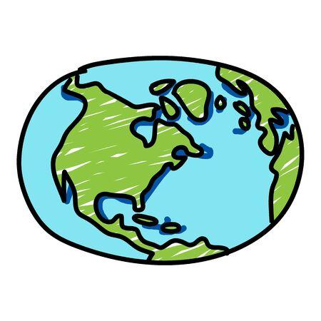 earth in hand: mano planeta tierra dibujado