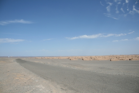 landforms: unique yadan earth surface, Yadan landforms, in Gobi desert Dunhuang China Stock Photo