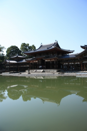 Byodoin temple in Uji, near Kyoto in Japan, a unesco world heritage site Stock Photo - 16234479