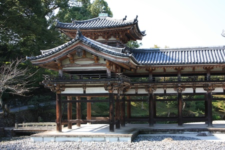 Byodoin temple in Uji, near Kyoto in Japan, a unesco world heritage site Stock Photo - 16234490