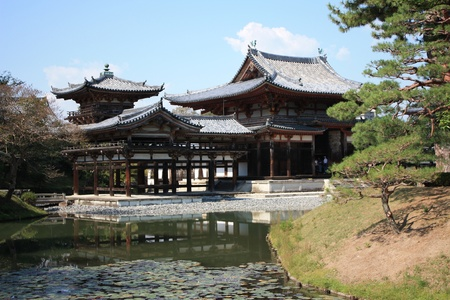 Byodoin temple in Uji, near Kyoto in Japan, a unesco world heritage site Stock Photo - 16234475