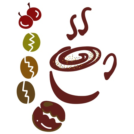 hand-drawn coffee cups vector for design
