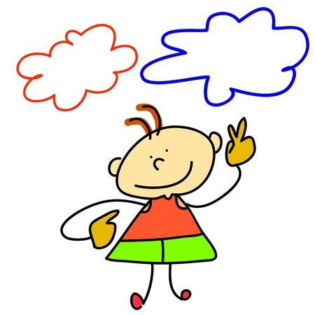 funny boy cartoon hand-drawn for design Stock Vector - 16544274