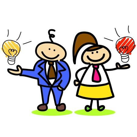 cartoon business idea hand-drawn for design Stock Vector - 16544284